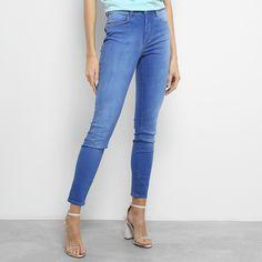 ca956b483 Calça Jeans Skinny Colcci Kim Estonada Cintura Média Feminina - Azul Claro  - Compre Agora