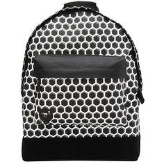 Mi-Pac - Sac A Dos Honeycomb Noir Blanc - LaBoutiqueOfficielle.com