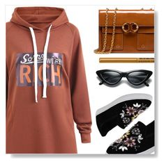 """""""Hoodie"""" by simona-altobelli ❤ liked on Polyvore featuring Tory Burch and NYX"""