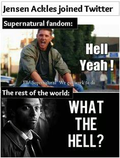 Truth. Jensen Ackles joined Twitter - Supernatural Fandom - Dean Winchester