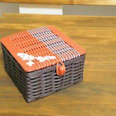 紙バンド(紙ひも)で作るかごバッグ~mamemame~ 室内用