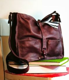 Dark Brown Leather Handbag