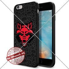 Case Arkansas State Red Wolves Logo NCAA Cool Apple iPhone6 6S Case Gadget 1032 Black Smartphone Case Cover Collector TPU Rubber original by Lucky Case [Music] Lucky_case26 http://www.amazon.com/dp/B017X1282Q/ref=cm_sw_r_pi_dp_hvctwb1CY649B