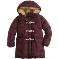 Girls Long Powder Puffer Back To School J Crew