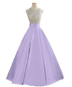 HEIMO Women's Sequined Evening Party Gowns Beading Formal Prom Dresses Long 2017 H160 14 Lavender