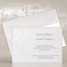 Simple Elegant Wedding Invitations UK - Melanie - Polina Perri