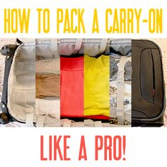 How to pack a carry-on!  I've read so many packing articles lately ... but I really think this one may actually be one of the best!