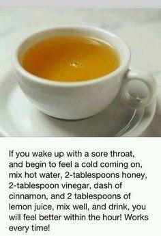 Sore throat recipe
