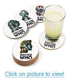 Doctor Who 12 Doctor Coaster Set Home #Office #Kitchen