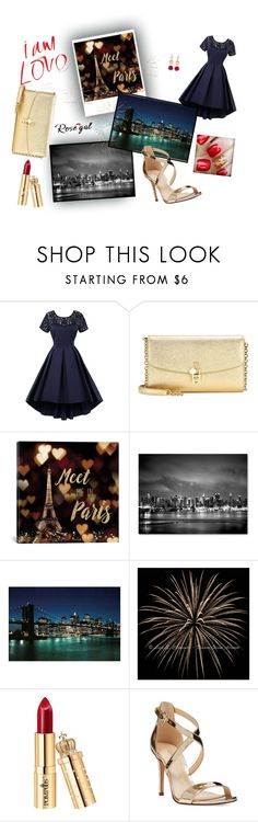 """""""Rosegal"""" by jaca757 ❤ liked on Polyvore featuring Dolce&Gabbana, iCanvas, Trademark Fine Art, Nine West and vintage"""