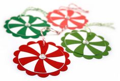 cute scrapbook tags and ornaments