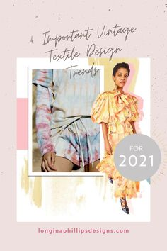 Check out the big four and learn how to implement them in your fashion and textile design projects |  #textiledesign #fashiondesign #fashiontrends2021 #2021trends #vintagetrends #vintagefashion #longinaphillipsdesigns #theprintschool #textiledesigncourse Textile Design Courses, Vintage Trends, The Big Four, Vintage Textiles, Creative Director, Design Projects, Design Trends, Illustration, Nostalgia