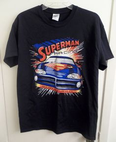 NASCAR Superman Racing #24 T-Shirt Adult Size M Medium