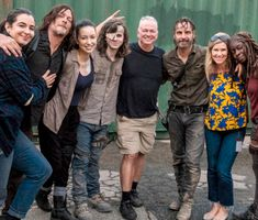 """dailytwdcast: """"""""Chandler Riggs, Andrew Lincoln, Danai Gurira, Norman Reedus,Christian Serratos and Alanna Materson behind the scenes of The Walking Dead Season 8 Episode 9 Walking Dead Season 8, Walking Dead Funny, Walking Dead Cast, The Walking Dead Tv, Chandler Riggs, Walking Dead Coral, Zombie Walk, Casting Pics, The Avengers"""