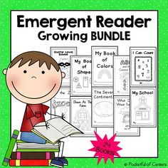 A growing BUNDLE of emergent readers for Kindergarten. Kindergarten Homework, Kindergarten Learning, Emergent Readers, Learning Tools, Ell, I School, Guided Reading, Language Arts, Teaching Ideas