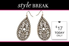 STYLE BREAK! Get the Mia Earrings for $17. Today Only. Hurry before they run out! http://ontheotherhand.kitsylane.com