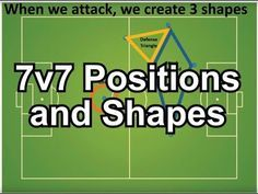 Soccer 7v7 Positions And Shapes In 2020 With Images Soccer Training Soccer Drills For Kids Soccer Workouts