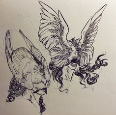 "kaylapocalypse: "" bonesnail: ""Fearsome being "" This: ""Be not afraid"" Some shepherds: BRUH. Creature Concept Art, Creature Design, Arte Horror, Horror Art, Art Sketches, Art Drawings, Sketch Ink, Art Inspo, Art Du Croquis"