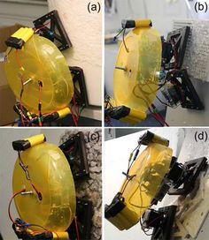Robot Scales Walls with Sticky Plastic Feet
