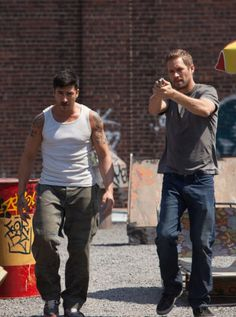 Paul Walker and David Belle. Love the parkour in that movie, Brick Mansions.