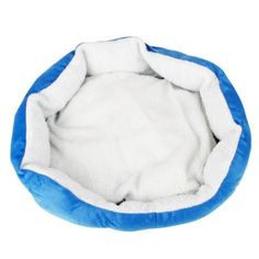 Amazon.com: Cotton Pet Dog Puppy Cat Soft Warm Waterloo Bed House with Pad Sky Blue M Size: Pet Supplies