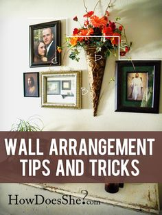 Unpacking? No. Decorating? Yes.     Great Tips for hanging things on your walls! #hangingpictures