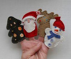 Marionnettes à doigt Noël