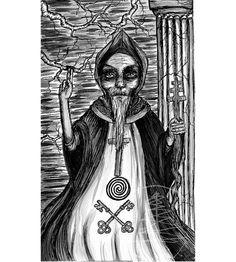 Tarot Card Art Print  of The Hierophant  Card  8x10 by treetalker, $18.00