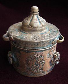 Ancient Antique Islamic Khorasan Seljuk Bronze Scribes Inkwell 12th Century   eBay