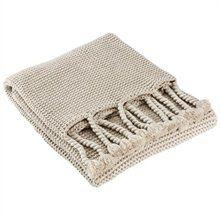 Chunky Knit Tassel Throw – Silver Birch - Chapters / Indigo