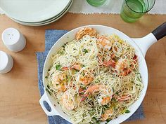 Gina's Shrimp Scampi with Angel Hair Pasta Recipe : Patrick and Gina Neely : Food Network