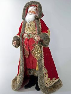 """Katherine's Collection Holiday Cheer Christmas Collection 32"""" Santa Claus Doll Free Ship"""