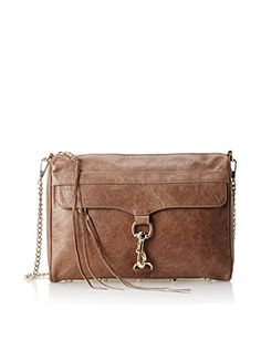 Rebecca Minkoff Women's Mac Daddy Shoulder Bag,Taupe,One Size