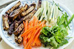 Grilled Eggplant Spring Rolls | Vegan Yack Attack