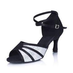 Chaussures de danse - $27.99 - Femmes Satin Pailletes scintillantes Talons Sandales Latin avec Lanière de cheville Chaussures de danse  http://www.dressfirst.fr/Femmes-Satin-Pailletes-Scintillantes-Talons-Sandales-Latin-Avec-Laniere-De-Cheville-Chaussures-De-Danse-053006994-g6994