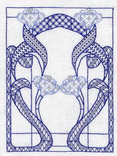 blackwork art nouveau window. i don't know why, but i love this.