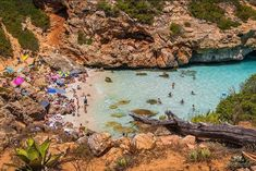On the strikingly beautiful southeastern coast of the Spanish island of Mallorca there's a tiny beach that's as close to paradise as any of us will ever get Beaches In The World, Places Around The World, Around The Worlds, Menorca, Ibiza, Pinterest Images, Ways To Travel, Exotic, Travel Photography