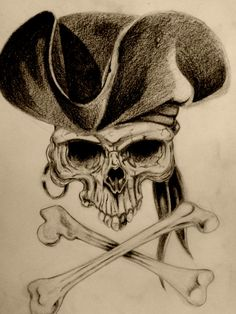 Pirate's skull. _project for tattoo_