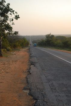 Road between Xai-Xai and Inhambane, Mozambique  I've travelled on this road in 1998, 2012, & 2013  Going again in 2015!!