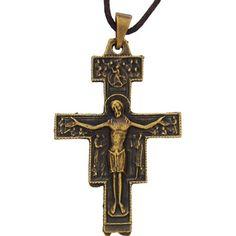 San Damiano Antique Finished Crucifix
