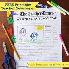 FreePrintableTeacherNewspaper