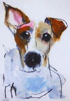 Valerie Davide #dog #painting #terrier:
