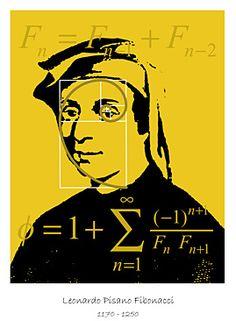The medieval counterpart to Steve Jobs was a young Italian called Leonardo, better known today by the nickname Fibonacci. Fibonacci Golden Ratio, Fibonacci Spiral, Fibonacci Code, Maths In Nature, Science And Nature, Math Art, Science Art, Leonardo Fibonacci, Real Life Heros