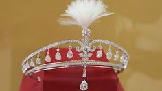 Cartier tiara | Platinum, white gold, cultured pearls, rooster feathers, diamonds