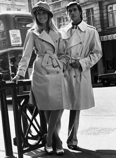 Burberry Spring/Summer 1974 Campaign. The Well Renowned Trench Coat.
