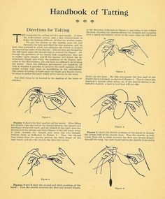 @Lauren Balderson - was it you who told me they wanted to learn Tatting?   Needle Tatting Instructions | TATTING instructions.