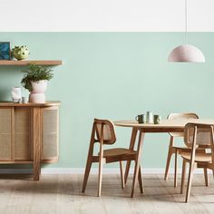 Mint green living room with pastel homewares and indoor plants Mint Living Rooms, Living Room Green, Living Room Paint, Living Room Furniture, Living Room Decor, Pastel Living Room, Mint Green Rooms, Mint Green Decor, Mint Rooms