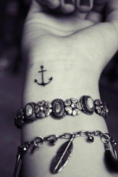 Cute anchor tattoo