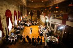 A wedding that took place at a venue that used to be a bank!  Look for the unique and you'll find it!