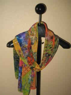 Dharma Trading Co. Featured Artist: Richard Lewis- shibori silk scarves